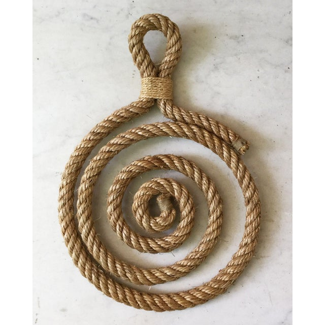 1960s 1960s Audoux Minet Rope Trivet For Sale - Image 5 of 5
