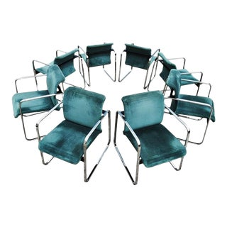 Armchairs Designed by Peter Protzman and Alexander Girard for Herman - Set of 8 For Sale