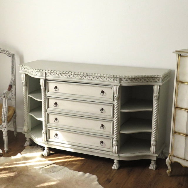 Painted Buffet with Lion's Feet - Image 3 of 7