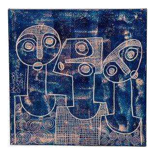 "Rahmon Olugunna ""Three Jolly Friends"" Painting For Sale"