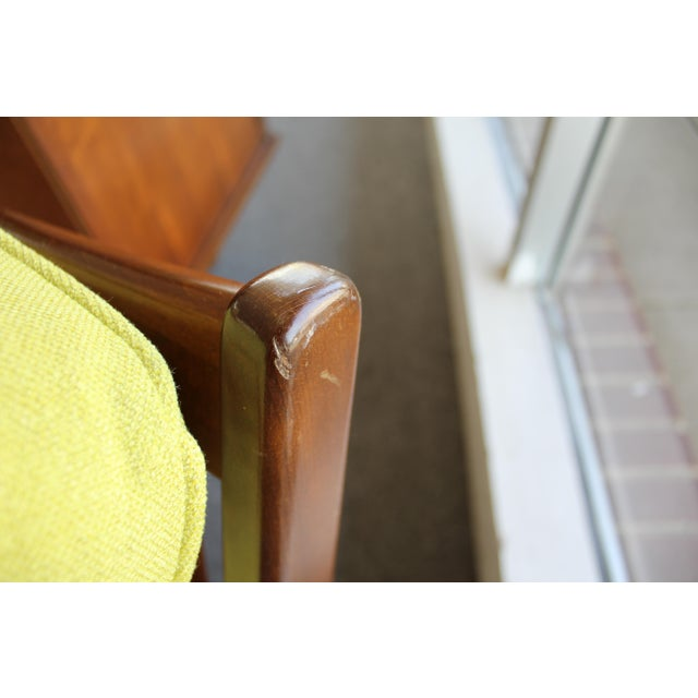 Mid-Century Danish Modern 'Citron' Walnut Open Arm Lounge Chair - Image 11 of 11