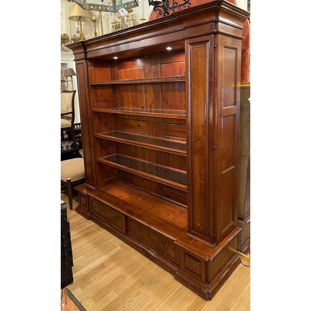 Wood Antique Spanish Colonial Style Artitalia - Libreria Dama Open Bookcase For Sale - Image 7 of 7