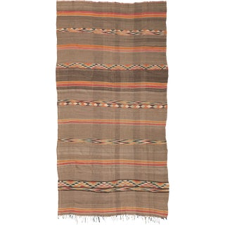 Mid 20th Century Moroccan Kilim Rug- 6′3″ × 12′1″ For Sale