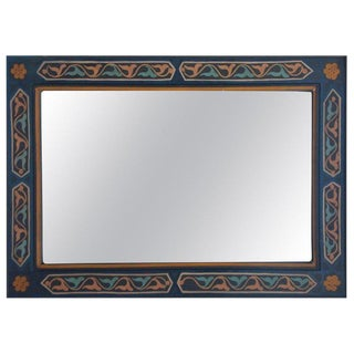 Moroccan Hand-Painted Mirror For Sale