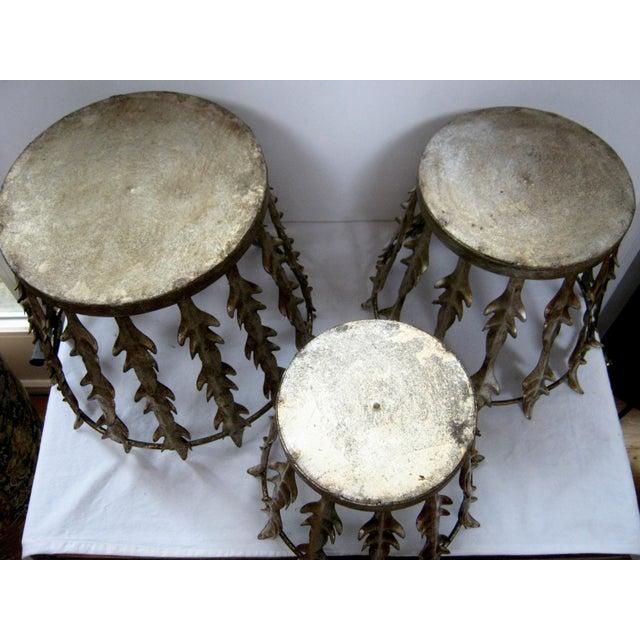 Vintage Italian Nest of 3 Acanthus Leaf Baskets - Set of 3 - Image 8 of 8