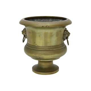 Antique Bronze Garden Urn For Sale