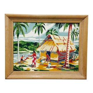 Vintage Island Scene Paint By Numbers For Sale