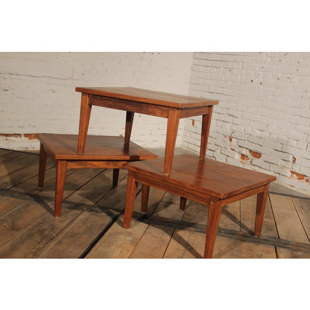Mid-Century Stackable Rosewood Tables - Set of 3 - Image 2 of 9
