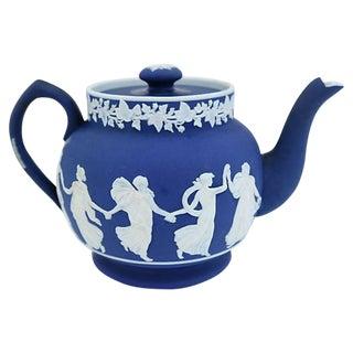 "Antique Jasperware ""Dancing Hour"" Single Cup Teapot For Sale"