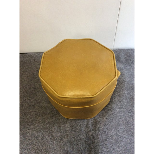 Fine Vintage Gold Octagon Stool Machost Co Dining Chair Design Ideas Machostcouk