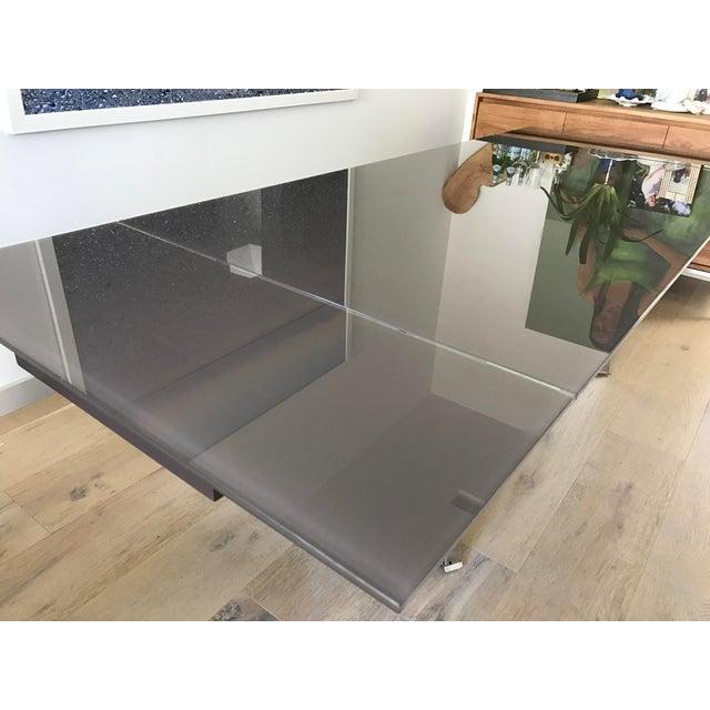 Custom Italian Modern Glass Dining Table - Image 7 of 10
