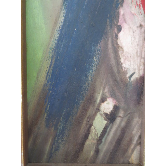 Mid-Century Modern Leon Saulter 1963 'The Eye of the Forest' Painting For Sale - Image 3 of 6