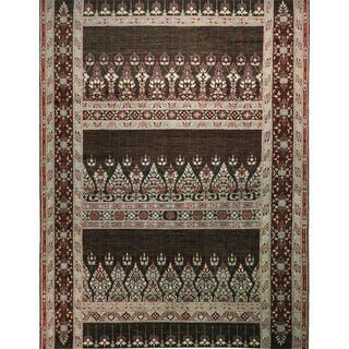 """Afghan Brown Red Transitional Rug-10'5'x13'1"""" For Sale"""