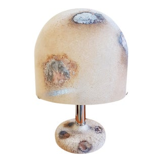 1980s Italian Alfredo Barbini Mid-Century Modern Murano Glass Lamps - Two Available For Sale