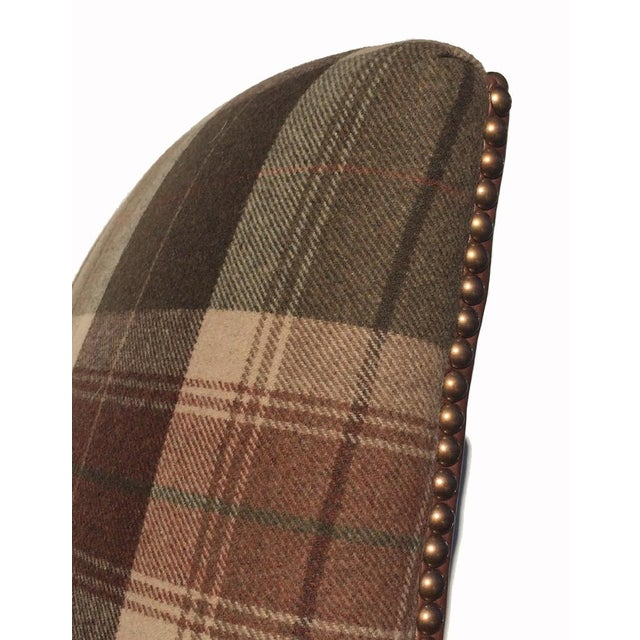 New Pair Country Arm Chairs Ralph Lauren Plaid - Image 8 of 9