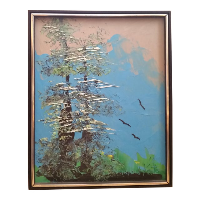 Signed Morris Katz Forest Landscape Oil Painting - Image 1 of 6