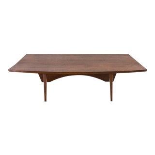 1955 USA George Nakashima Black Walnut Slab Low Table For Sale
