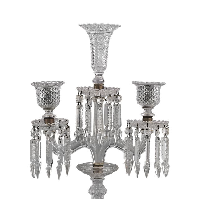 Louis XV Baccarat Crystal Candelabra For Sale - Image 3 of 5