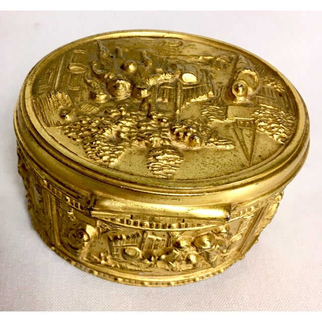 1900s French Gilded Ring Box For Sale - Image 4 of 9