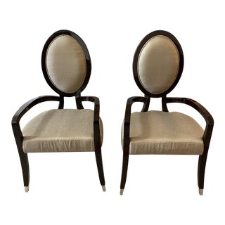 Giorgio Collection Luna Armchairs + Donghia Fabric For Sale