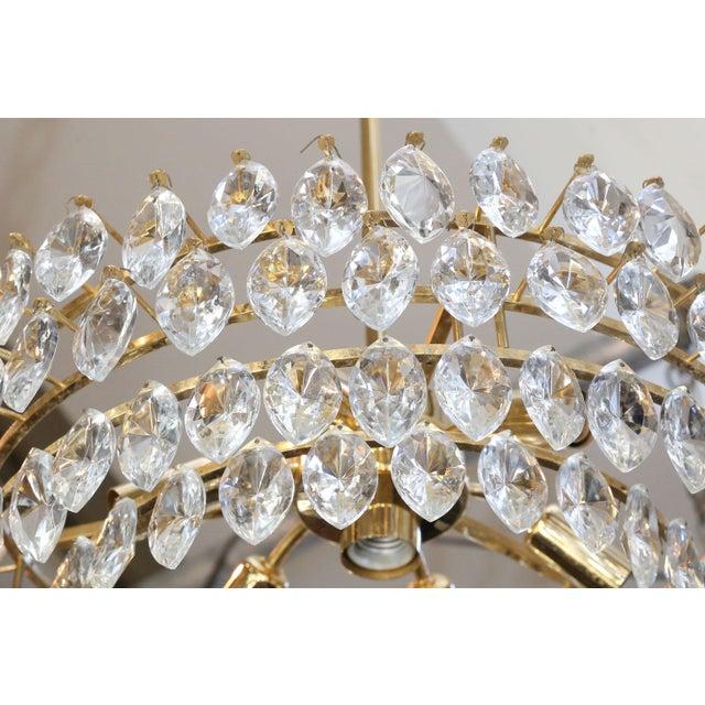 Palwa Vintage Austrian Palwa Crystal Chandelier For Sale - Image 4 of 9