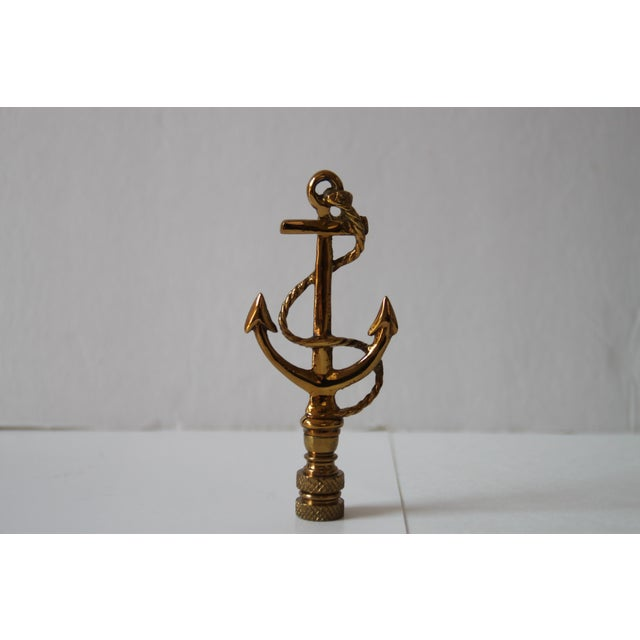 Brass Anchor Lamp Finials - A Pair - Image 2 of 2