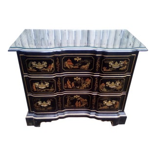 1970s Vintage Drexel Et Cetera Chinoiserie Chest Of Drawers For Sale