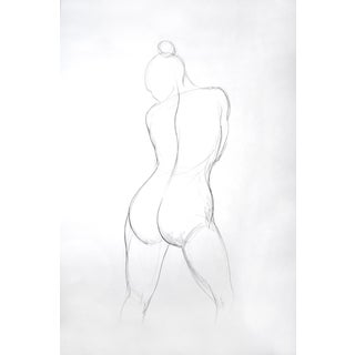 Figure Drawing - Female Back For Sale