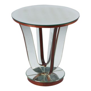 Mid-Century Mirrored Venetian Glass Side Table, 1950s