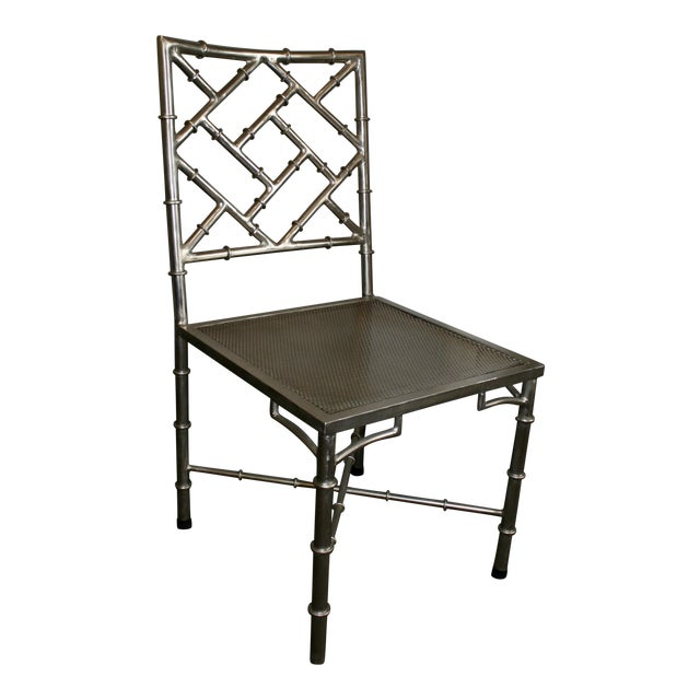 Nickel Bamboo Side Chair - Image 1 of 7