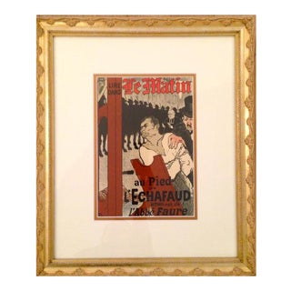 1950 Vintage Le Matin Lithographic Plate, Toulouse Lautrec (Framed) For Sale