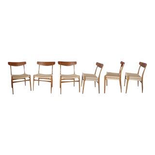 Set of 8 Restored Hans Wegner Ch-23 Dining Chairs