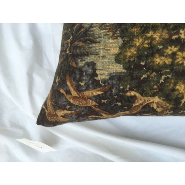 English Fox Hunt Linen Pillows - Pair - Image 4 of 8