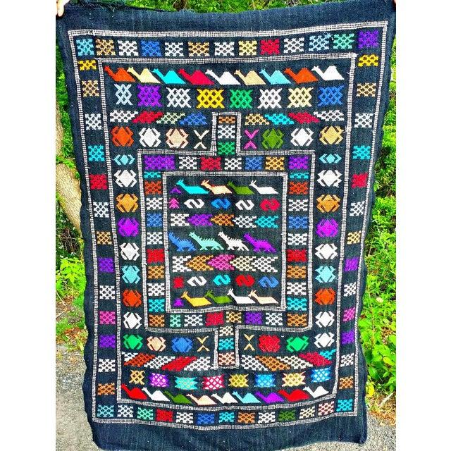 Moroccan Oued Zem Black Cotton Area Rug - 3′ × 4′6″ - Image 2 of 11
