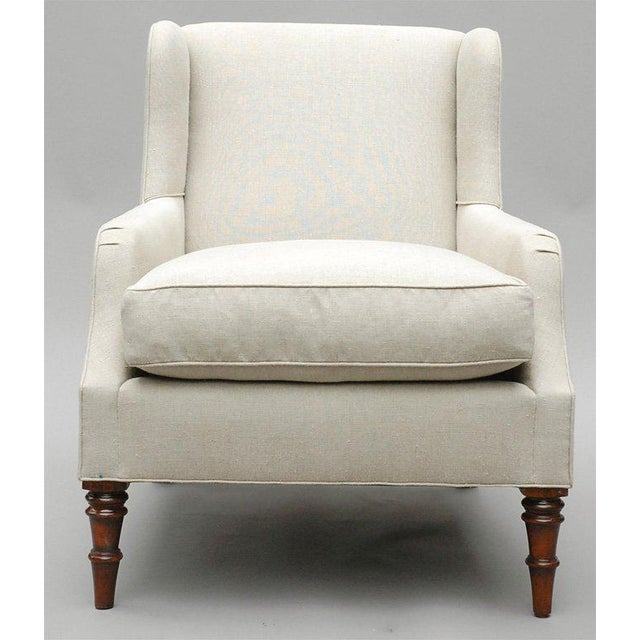 """Selby"" by Lee Stanton Armchair Upholstered in Belgian Linen or Custom Fabric For Sale - Image 4 of 10"