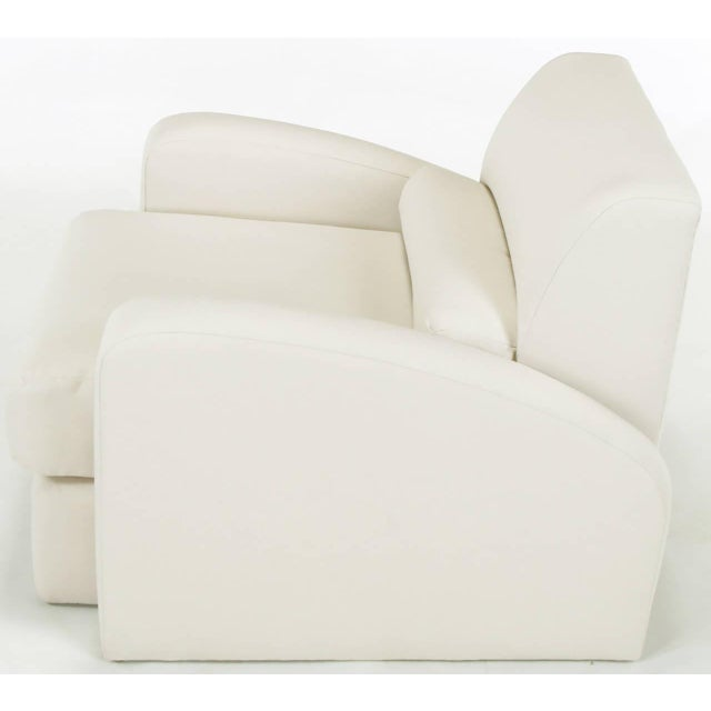 Jay Spectre Steamer Lounge Chair with Ottoman - Image 4 of 6