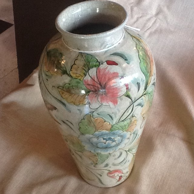 Rustic Mexican Ceramic Vase For Sale - Image 3 of 4