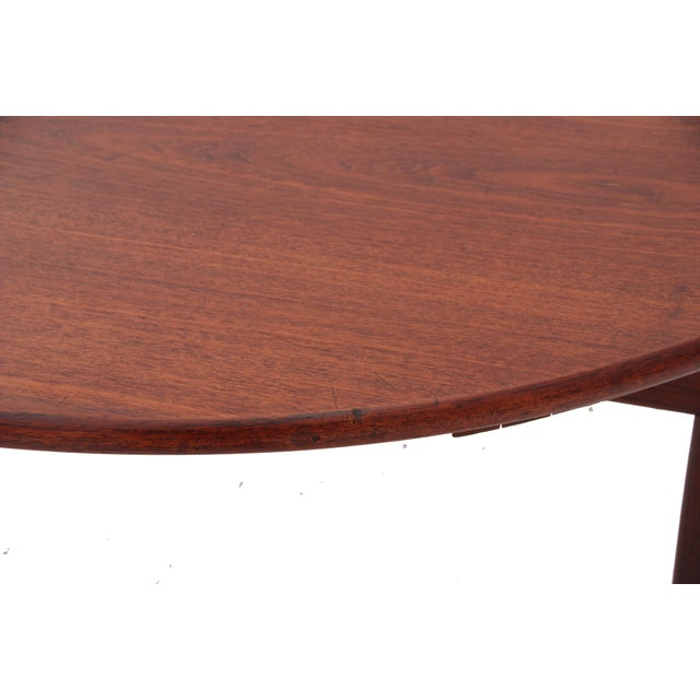 Brown Mid-Century Danish Modern Table by Willy Beck For Sale - Image 8 of 10