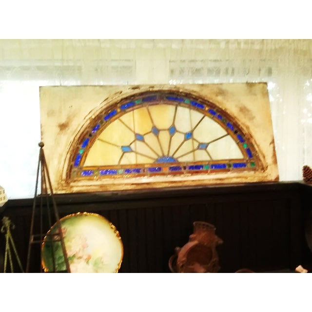 Stained Glass Victorian Window Transom - Image 4 of 6