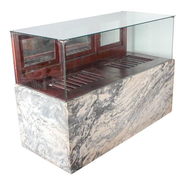 Antique Marble & Glass Store Display For Sale