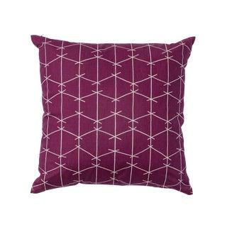 Modern Ferrick Mason Criss Cross Amethyst Pillow For Sale