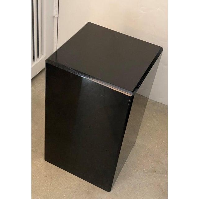 """Vintage Pedestal Black Lucite 20.5"""" High For Sale In West Palm - Image 6 of 8"""