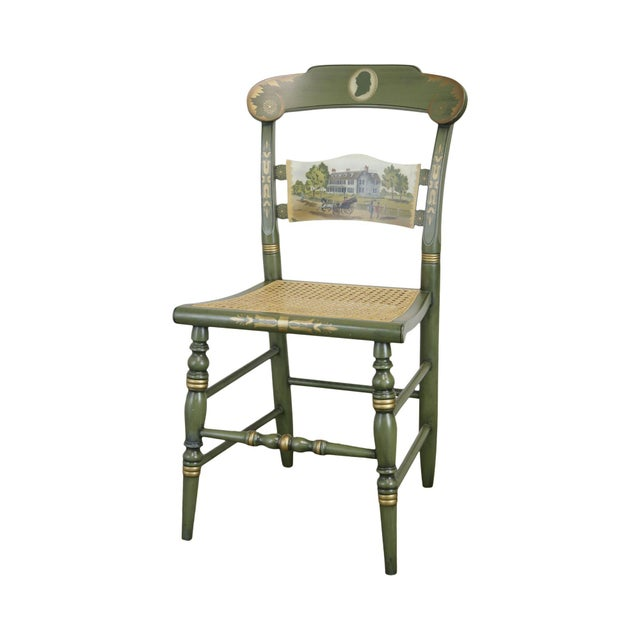 """Hitchcock """"The Adam's Old House"""" Green Painted Side Chair For Sale - Image 13 of 13"""