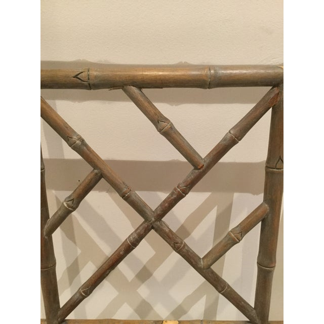 1970s Vintage Faux Bamboo Chippendale Side Chair For Sale In West Palm - Image 6 of 13