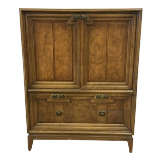 1960s Mid-Century Modern Wood Armoire For Sale