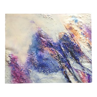 Rainbow Bubbles Mixed Media Abstract Expressionist
