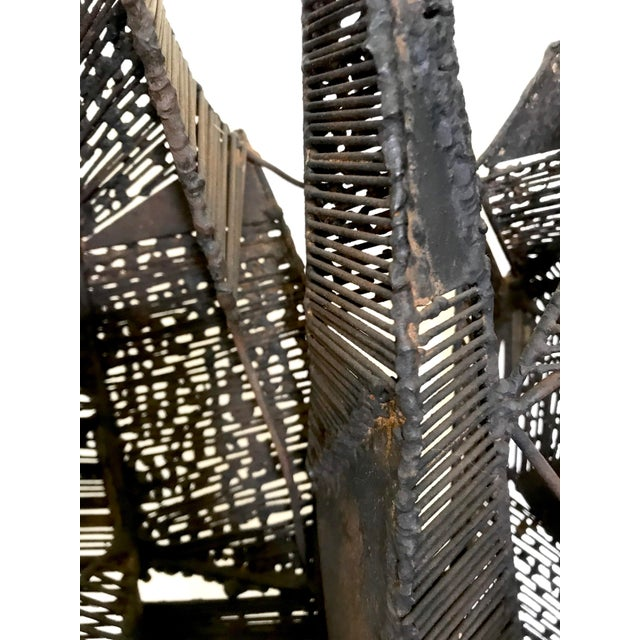 Mid-Century Brutalist Abstract Iron Sculpture For Sale - Image 10 of 13
