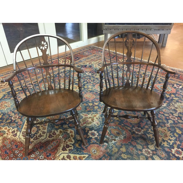 "Vintage ""Hale of Vermont"" Windsor Armchairs - A Pair - Image 7 of 7"
