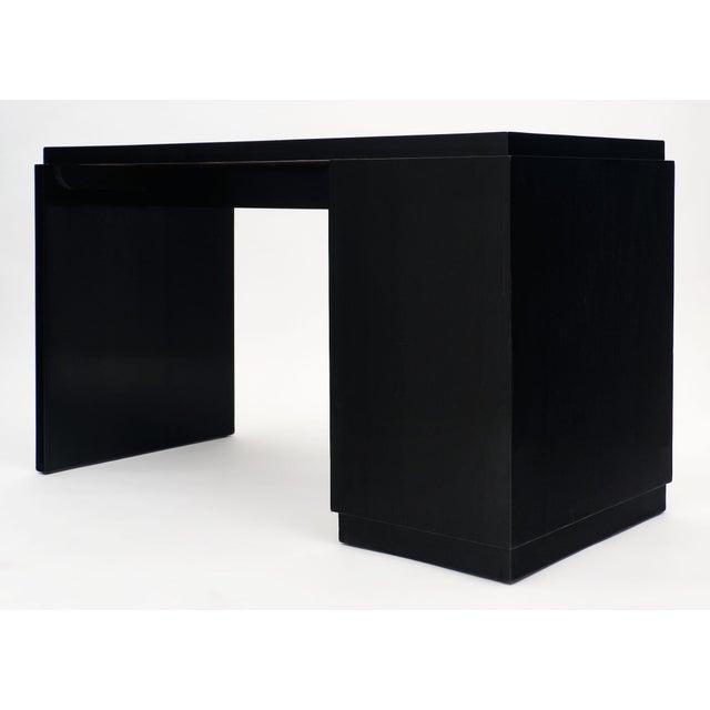 French Art Deco Period Ebonized Desk For Sale - Image 9 of 10