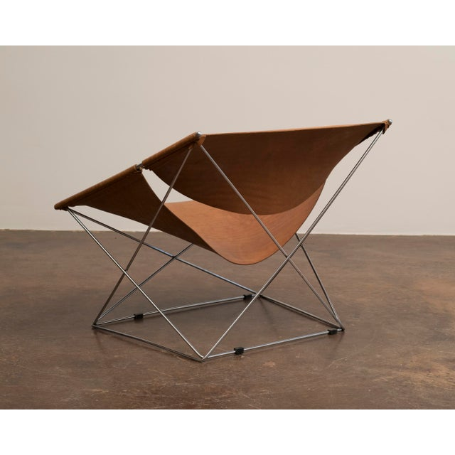 Pair of Pierre Paulin Butterfly Chairs in Original Leather, France, 1963 For Sale In Santa Fe - Image 6 of 12